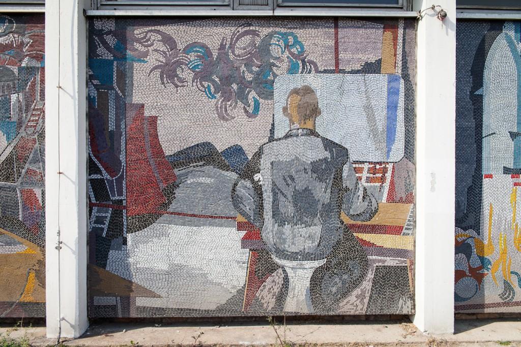 Mosaik: Fritz Eisel / Foto: Kulturlobby Potsdam / Adam Sevens